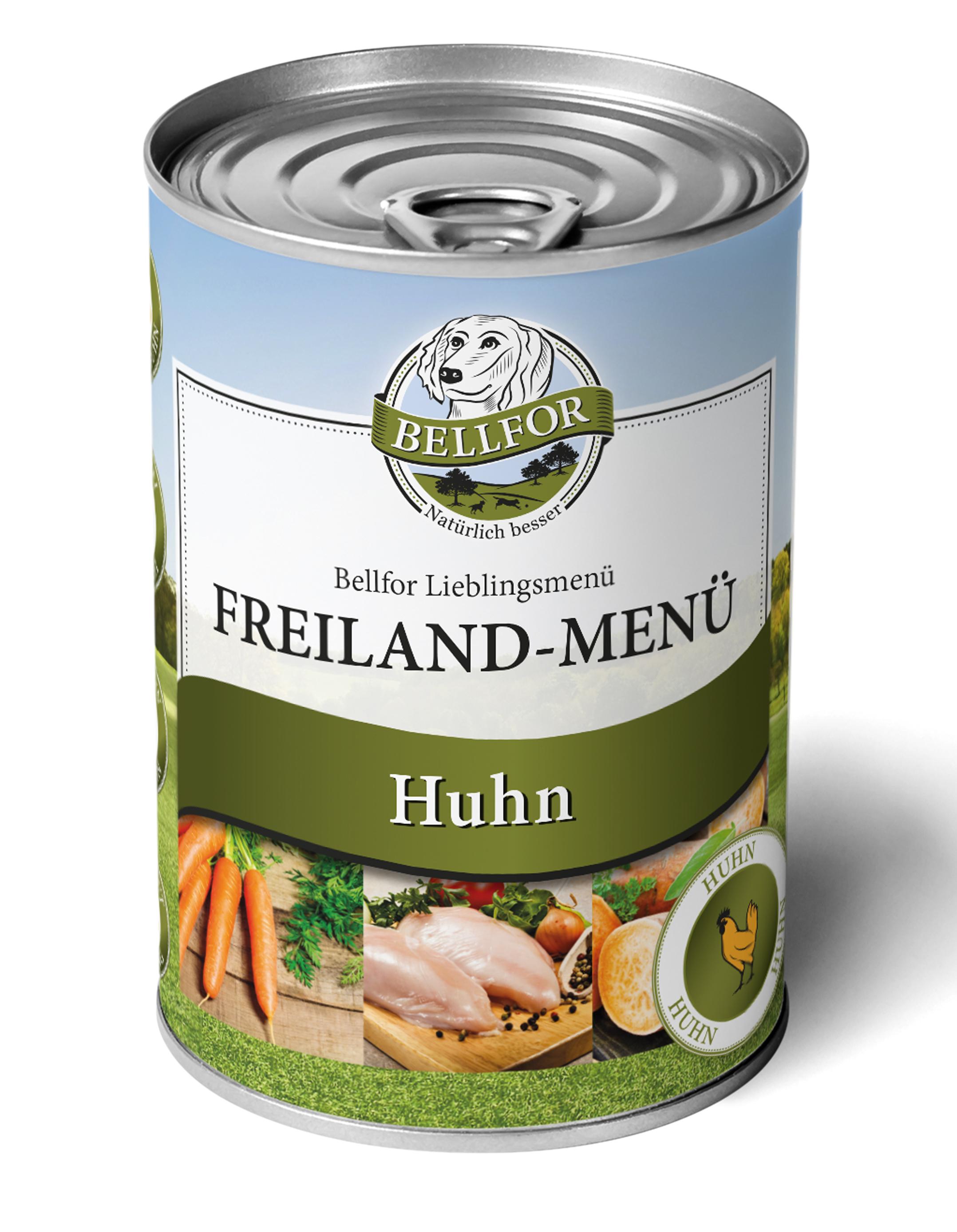 Nourriture humide au poulet Freiland-Menu